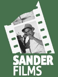 SANDER FILMS logo BLANCO